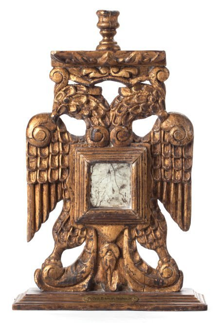 88012: A CARVED TWO-HEADED EAGLE MEXICAN CANDLESTICK 20