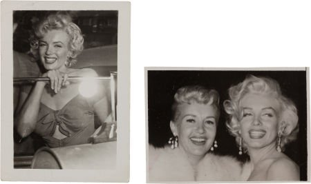 46002: A Marilyn Monroe Signed Black and White Snapshot