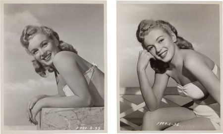 46007: A Marilyn Monroe Set of Rare Black and White Che