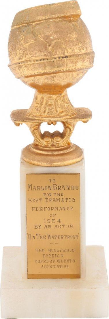 """46014: A Marlon Brando Golden Globe Award for """"On The W"""