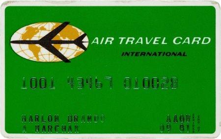 46019: A Marlon Brando Charge Card, 1981.