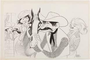 46073: A Walter Matthau Original Drawing by Al Hirschfe