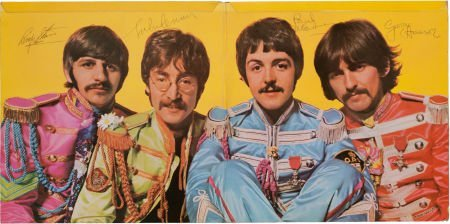46174: Beatles Signed Sgt. Pepper's Lonely Hearts Club