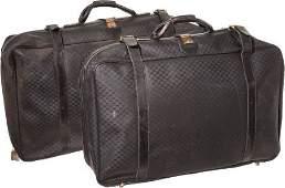 46090 A Walter Matthau Set of Matching Gucci Suitcases