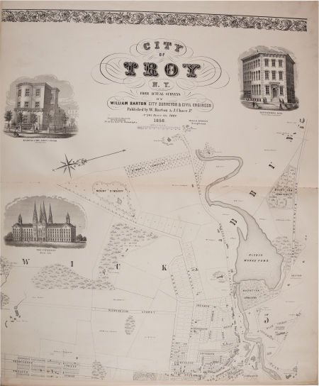 36004: [Map]. William Barton. City of Troy N. Y. from A