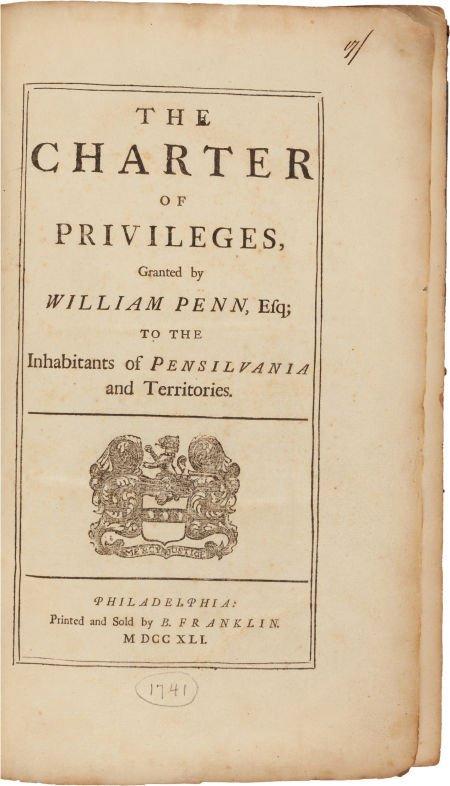 36009: [Ben Franklin, publisher]. [Pennsylvania]. The C