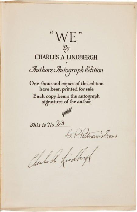"""36022: Charles A. Lindbergh. """"We."""""""