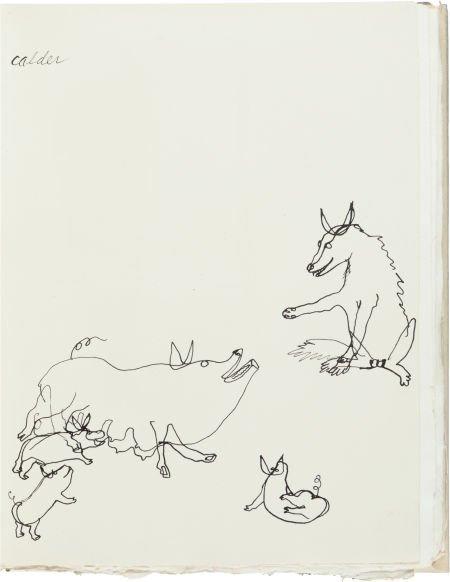 36116: [Alexander Calder]. Fables of Aesop According to
