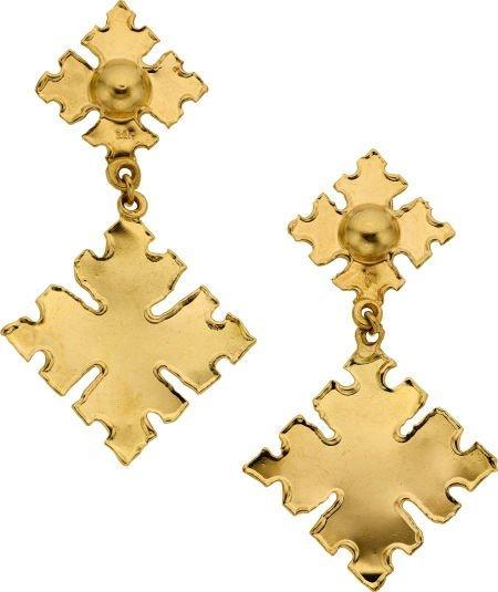 58001: Gold Earrings, Jean Mahie