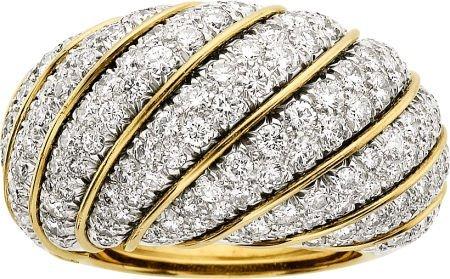 58005: Diamond, Platinum, Gold Ring