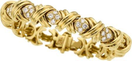 58263: Diamond, Gold Bracelet, Tiffany & Co.
