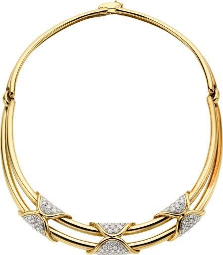 58008: Diamond, Gold Necklace