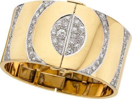58009: Diamond, Gold Bracelet