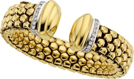 58010: Diamond, Gold Bracelet, Fope