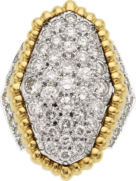 58013: Diamond, Platinum, Gold Ring, David Webb