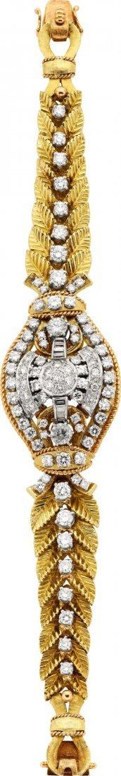 58015: Diamond, Gold Bracelet