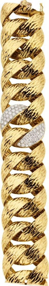 58021: Diamond, Gold Bracelet