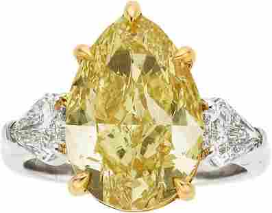 58433: Fancy Deep Yellow Diamond, Diamond, Platinum, Go