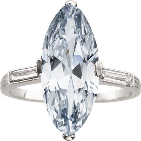 58439: Art Deco Natural Fancy Blue Diamond, Diamond, Pl