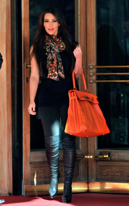 56011: Hermes 50cm Orange H Swift Leather Kelly Relax S