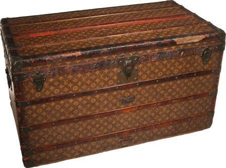 56293: Louis Vuitton Classic Monogram Canvas Steamer Tr