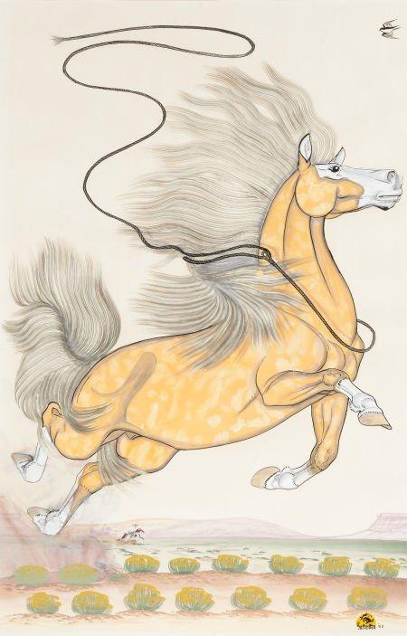 54017: QUINCY TAHOMA (NAVAJO, 1920 - 1956) The Runaway