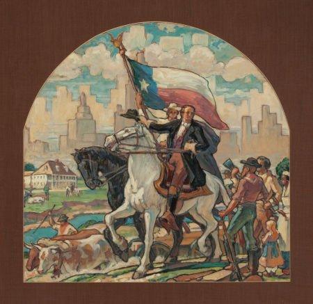 76020: JOHN MCQUARRIE (American, 20th Century) Mural st