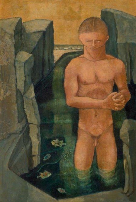 76002: KELLY FEARING (American, 1918-2011) Male Bather