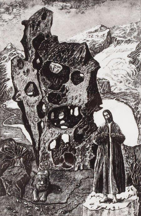 76007: KELLY FEARING (American, 1918-2011) Saint Jerome