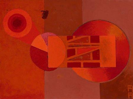 76008: BILL BOMAR (American, 1919-1991) Allegory on 'N'