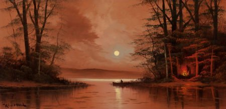 76087: ROBERT WILLIAM WOOD (American, 1889-1979) Evenin