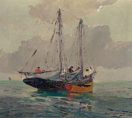 76032: PAUL RICHARD SCHUMANN (American, 1876-1946) On t