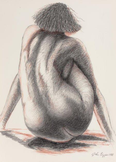 76017: JOHN BIGGERS (American, 1924-2001) Untitled, 198