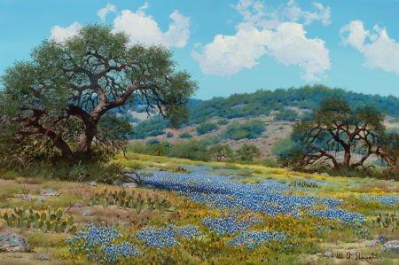 76019: WILLIAM A. SLAUGHTER (American, 1923-2003) Blueb