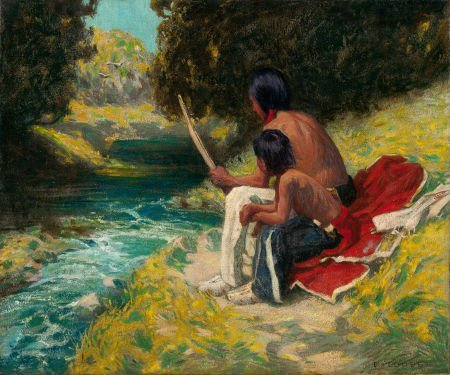 70044: EANGER IRVING COUSE (American, 1866-1936) The Ri