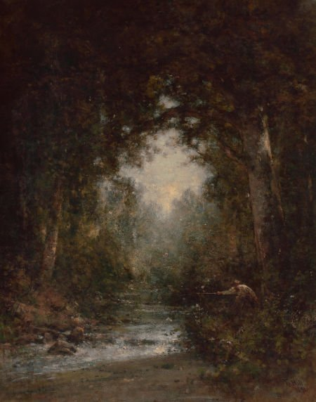 70025: THOMAS HILL (British/American, 1829-1908) Trout
