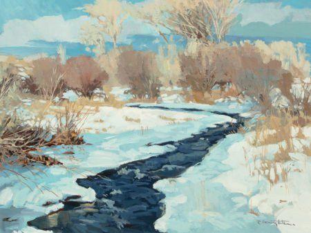ROBERT DAUGHTERS (American, b. 1929) Winter Cree