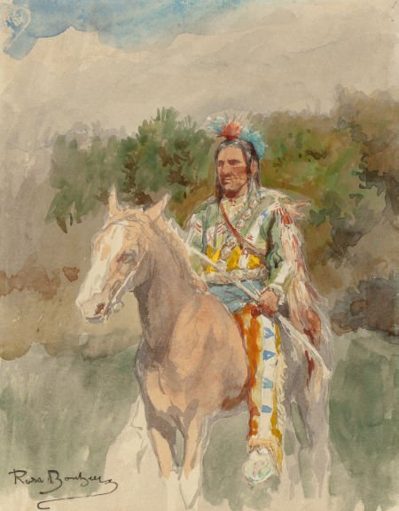 70010: ROSA BONHEUR (French, 1822-1899) Indian on Horse