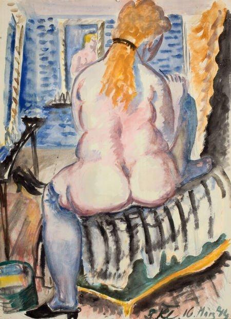 72008: PAUL KLEINSCHMIDT (German, 1883-1949) Woman Dres