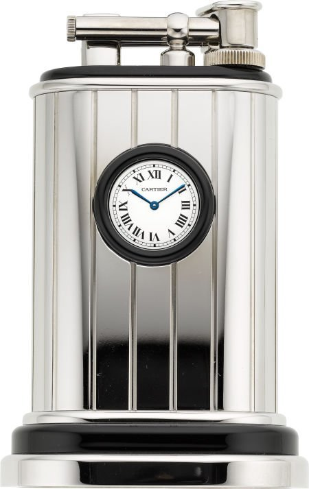 58093: Cartier Limited Edition Platinum Finish Table Li