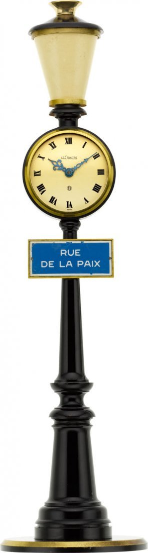 "58007: LeCoultre Eight Day ""Rue de la Paix"" Clock"