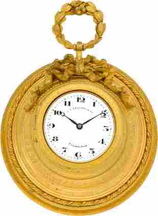 Adolphe Ollier Small French Wall Clock For J. E.