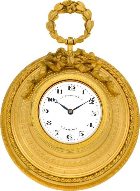 58009: Adolphe Ollier Small French Wall Clock For J. E.