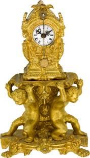German Miniature Zappler Clock, circa 1875