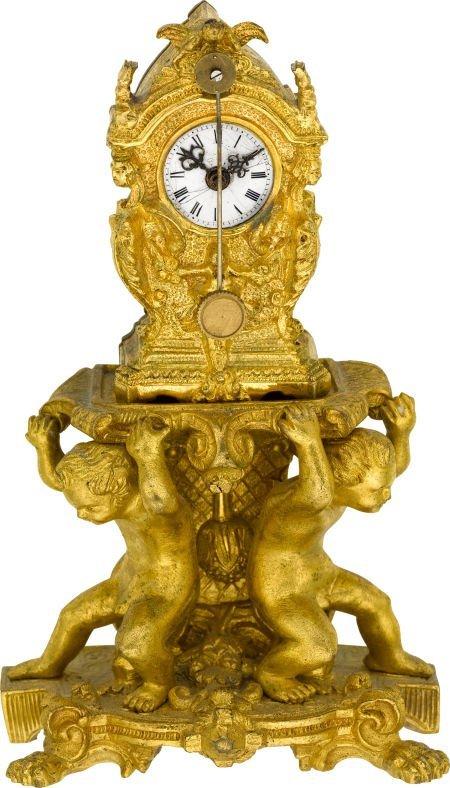 58013: German Miniature Zappler Clock, circa 1875