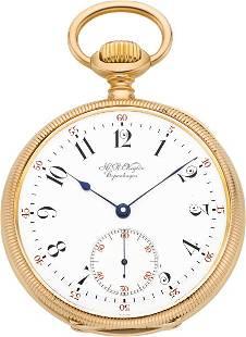 H. R. Ekegren High Grade Rose Gold Pocket Watch