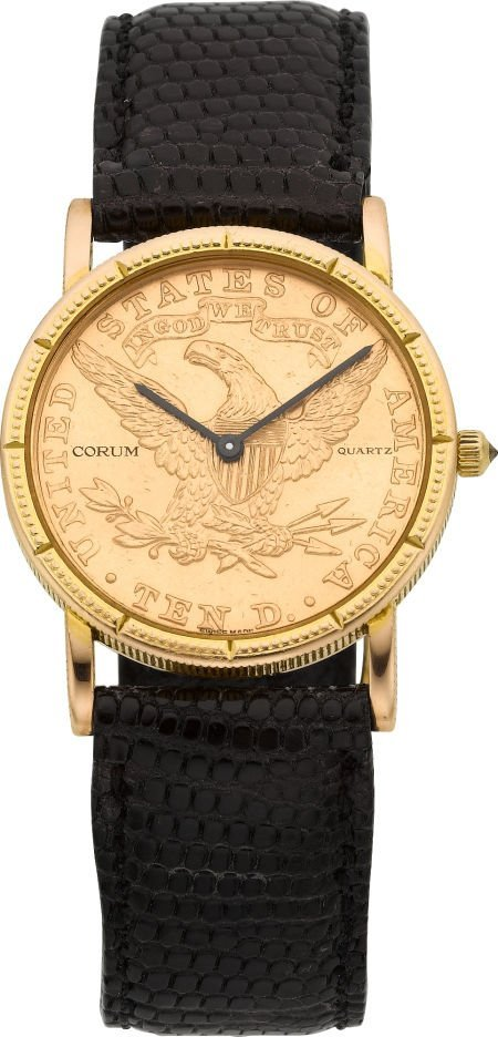 58169: Corum 1904 Ten Dollar Gold Coin Watch