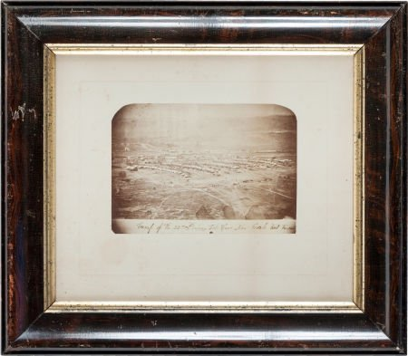 """32001: Civil War Period Albumen View of the """"Camp of th"""