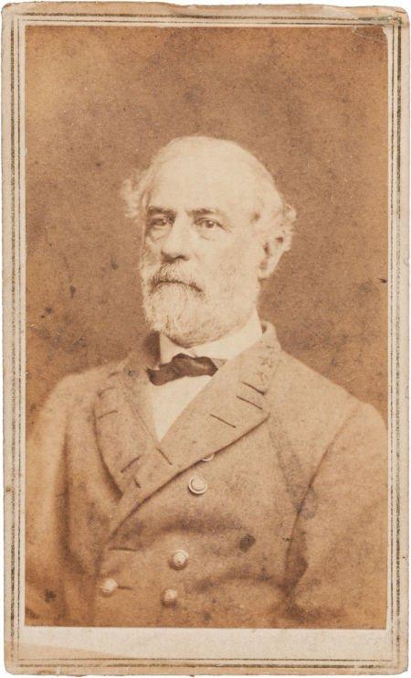 32004: Robert E. Lee Carte de Visite Signed