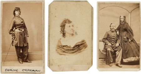 32012: Group of Three Rare Civil War Cartes de Visite.